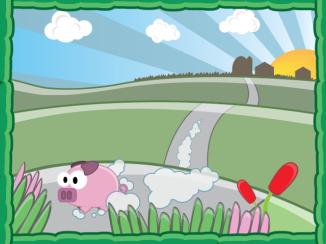 Pig Run Story Scene