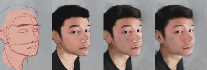 Self Portrait 2019_Process